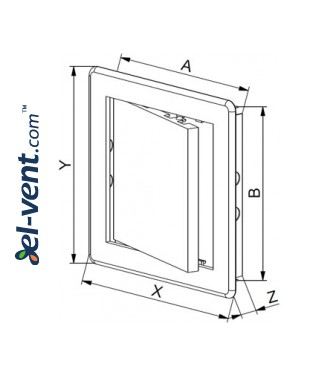 Access panels Plastic-SATIN - drawing