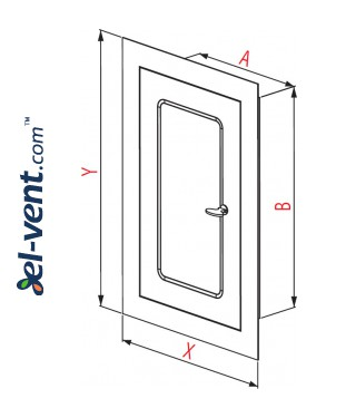 Access panel for chimney DMW79AN, 150x250 mm - drawing