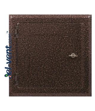 Revizinės durelės metalinės Line DM-R - ruda spalva