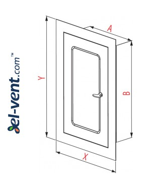 Metal access panels Line DM-R - drawing