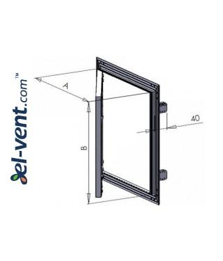 Access hatch reinforced KRAL8, 250x350 mm - drawing 2