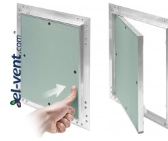 KRAL - drywall access panels from aluminum and water-resistant plasterboard