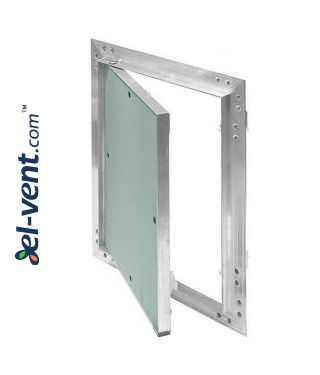 Drywall access panel KRAL12, 400x400 mm - opened