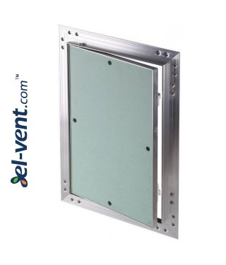 Drywall access panel KRAL14, 500x500 mm - almost closed