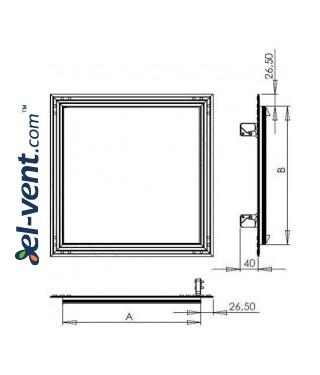 Access hatch reinforced KRAL8, 250x350 mm - drawing