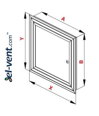 Loft hatch reinforced MKOM225/325, 225x325 mm - drawing