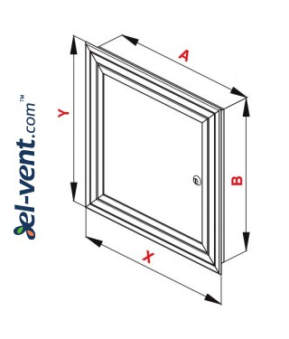 Loft hatch reinforced MKOM375/375, 375x375 mm - drawing