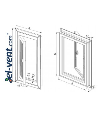 Access panels reinforced Plastic-PVC - drawing