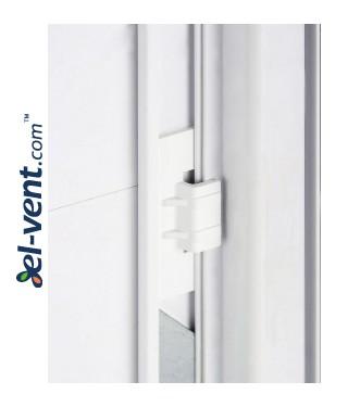 Revizinės durelės sustiprintos Plastic-PVC - fiksatorius