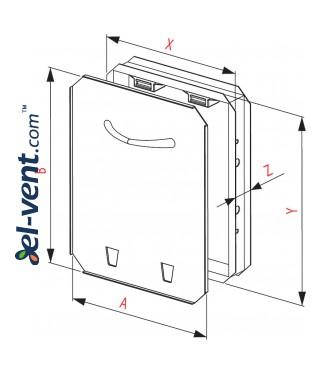 Tile access panels MAGNA MMC - drawing