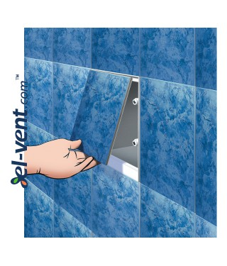 Tile access panel (200x1)x(250x1) 206x256 mm, 80741 MPCV5 - installation