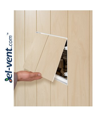 Tile access panel 150x300 mm MPCV3 - an example of opening