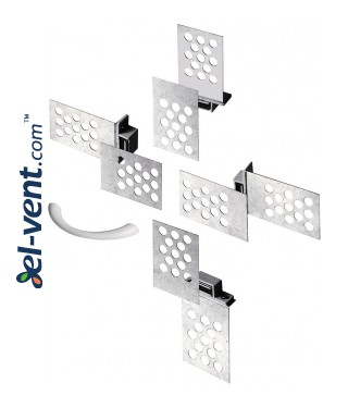 Universal set of magnets for access panels MU1 - Mounting example 2
