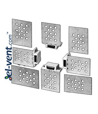 Universal set of magnets for access panels MU1 - Mounting example
