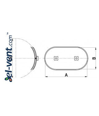 Access door for Ø315 mm round ducts RLO315 - drawing