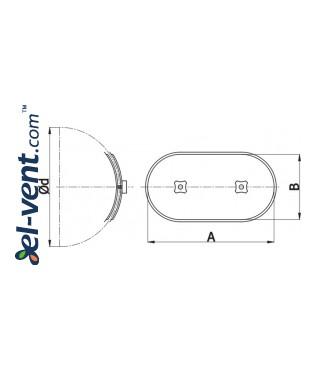 RLO - ревизионные люки для круглых воздуховодов - чертеж