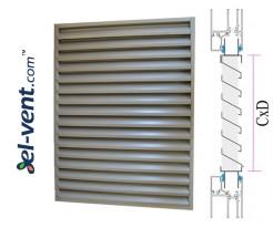 CzP - door/window panel external intake louvres