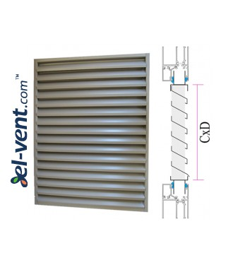 CzP - door/window panel external intake louvres, mounting