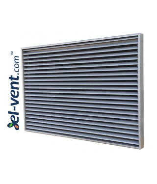 KPZ - air-flow grilles, stainless steel