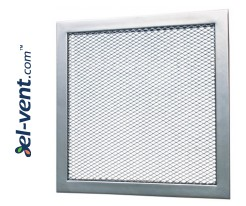 Ventilation grilles with metal mesh