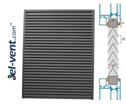 KWSP/P - panel air grilles