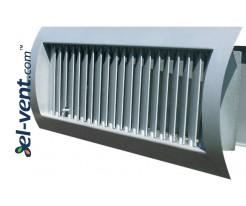 Adjustable ventilation grilles for ducts