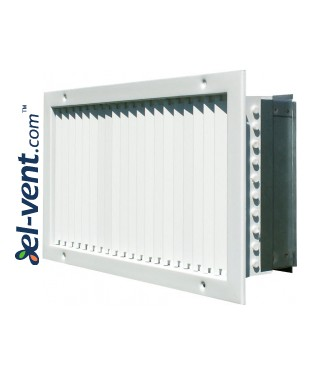 ST-S G - wall ventilation grilles with adjustable blades and damper