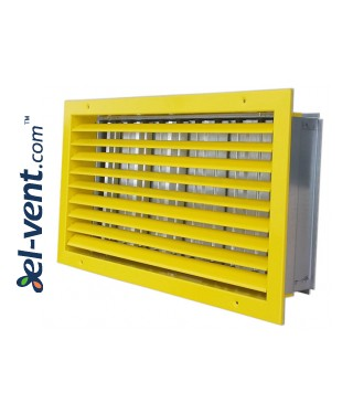 ST-W/G - wall grilles with adjustable blades and damper, yellow