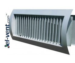 STS-S/G - air grilles for a spiral ducts with adjustable blades and cantilevered damper