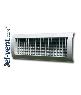 STS-S/W - grilles with two rows of adjustable blades for a spiral ducts