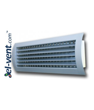 STS-W/S - grilles with two rows of adjustable blades for a spiral ducts 1