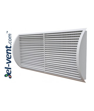 STS-W/S - grilles with two rows of adjustable blades for a spiral ducts 2