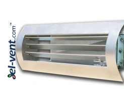STS-W/G - air grilles for a spiral ducts with adjustable blades and cantilevered damper
