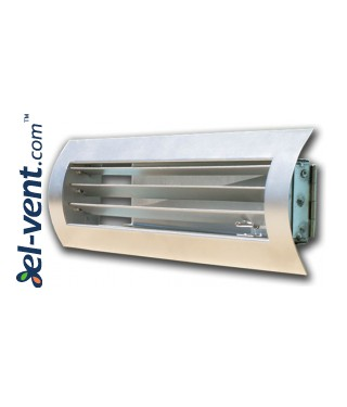 STS-W/G - grilles with adjustable blades and cantilevered damper for a spiral ducts