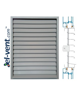 ZSR/P - door/window panel louvre with adjustable blades, mounting