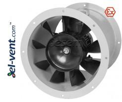 Sprogimui saugūs ašiniai kanaliniai ventiliatoriai AVWOKE EX ≤12000 m³/h