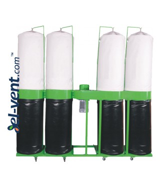 Dust and shavings extraction kit DNZOT-4 ≤4700 m³/h