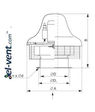 Explosion proof roof fans SVWDB EX ≤7000 m³/h - drawing