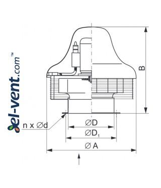 SVWDP EX ≤16400 м³/ч - чертеж