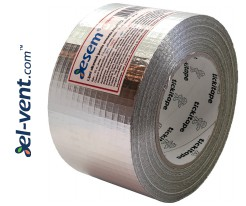 Aluminum foil tape reinforced AS256/72, thickness 190 µm, 7.2 cm x 45 m, -40 - +120 °C