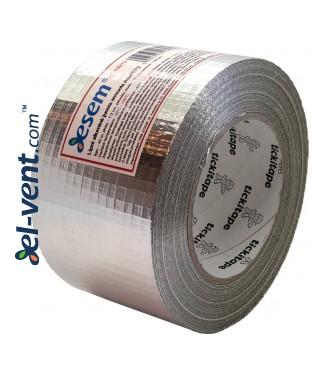 Aluminum foil tape reinforced AS256/72, thickness 190 µm, 7.2 cm x 45 m, -40 - +120 °C