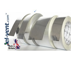 Aluminum foil tape reinforced AS256, thickness 190 µm, 4.8 cm x 45 m, -40 - +120 °C