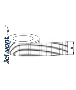 Adhesive aluminum foil tape reinforced for ducts AS256, 4.8 cm x 45 m, -40 - +120 °C - drawing