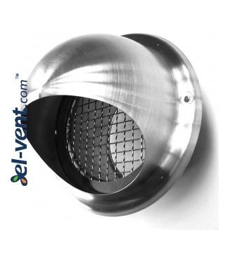 Nikelio-chromo lauko grotelės EGL125, Ø125 mm