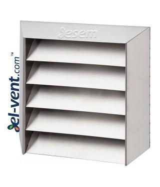 Lauko ventiliacijos grotelės iš nerūdijančio plieno INOX 5L