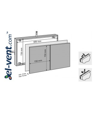 Tile access panels MAGNA - 80702