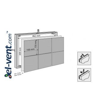 Tile access panel (150x3)x(150x2) - 462x309 mm, 80704 - drawing