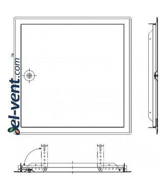 Softline INOX square lock - montavimo ankeriai