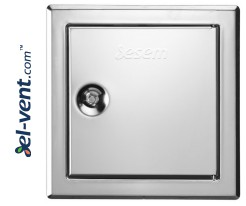 Softline INOX square lock - stainless steel access panels with square lock