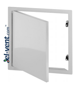 Softline SNAP - galvanized and coated in white access panels with concealed snap locks